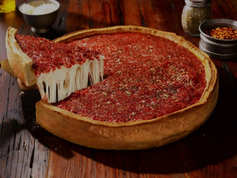 Chicagoi pizza